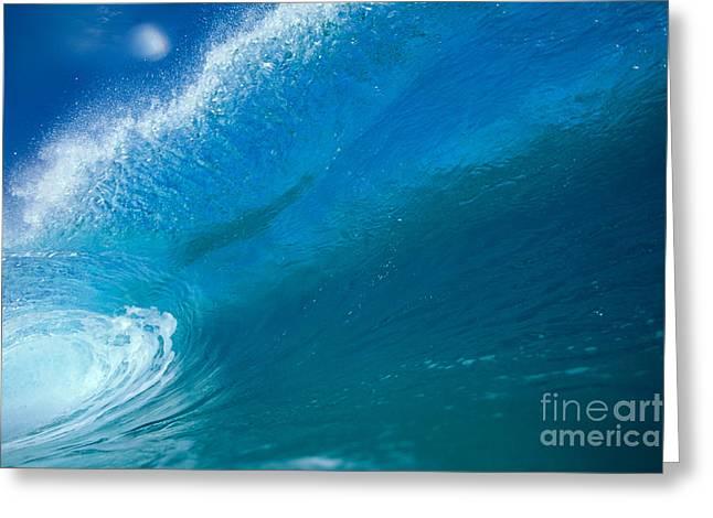 Aqua Tube Greeting Card by Vince Cavataio - Printscapes