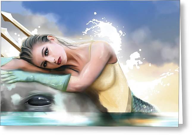 Aqua Woman Greeting Card