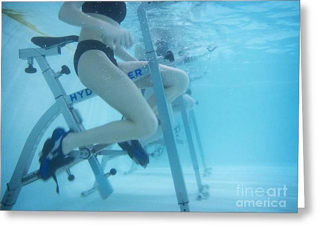 Aquabike Greeting Card by Am�lie Benoist
