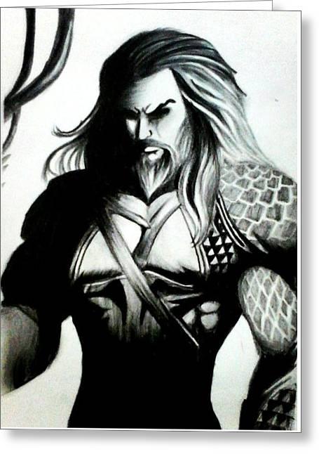 Aquaman  Greeting Card by Rishav Shubham