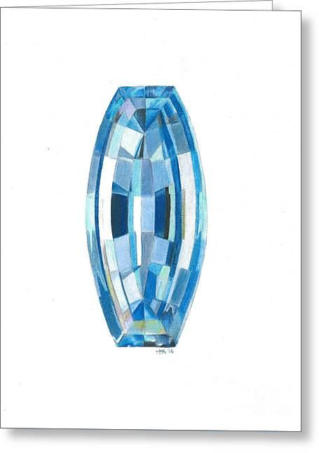 Aquamarine Facet Greeting Card