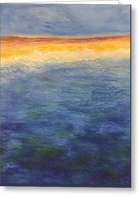 Greeting Card featuring the pastel Aquamarine by Norma Duch