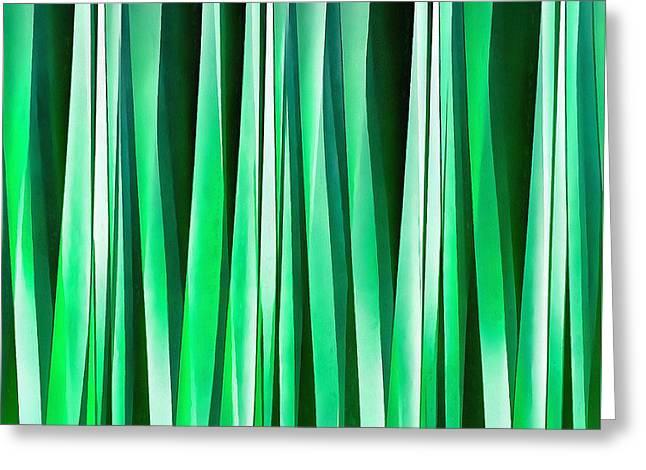 Aquamarine Ocean Stripy Pattern Greeting Card by Tracey Harrington-Simpson