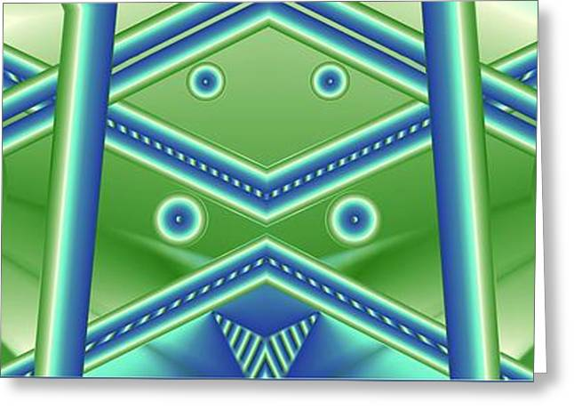 Greeting Card featuring the digital art Aquamarine by Ron Bissett