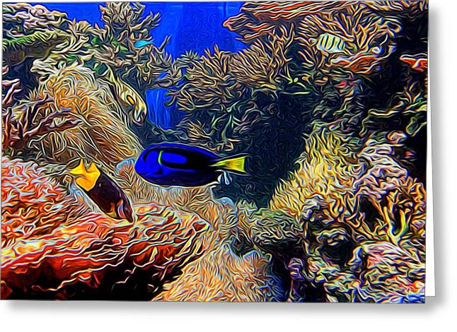 Aquarium Adventures In Abstract Greeting Card