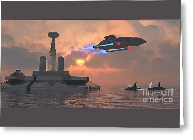 Aquarius Major Greeting Card by Corey Ford