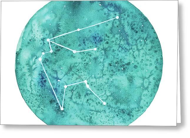 Aquarius Greeting Card by Stephie Jones
