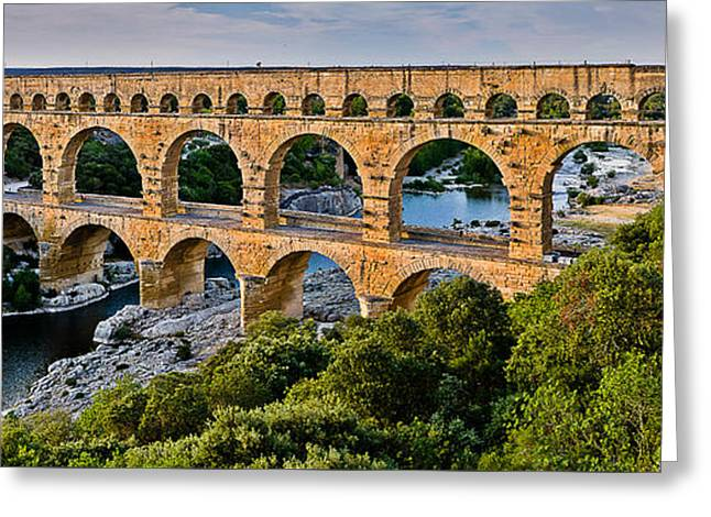 Aqueduct Pont Du Gard Greeting Card