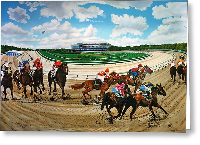 Aqueduct Racetrack Greeting Card