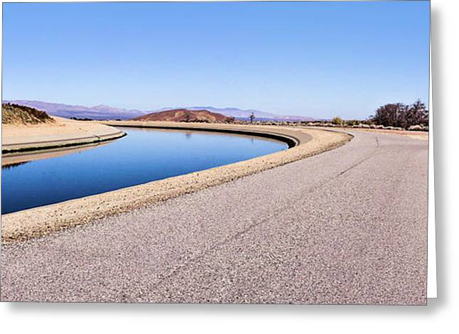 Aqueduct Sharp Turn Greeting Card