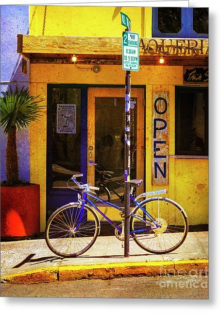 Greeting Card featuring the photograph Aqueria Bicycle by Craig J Satterlee