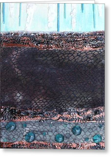 Greeting Card featuring the painting Aquifer by Terri Thompson