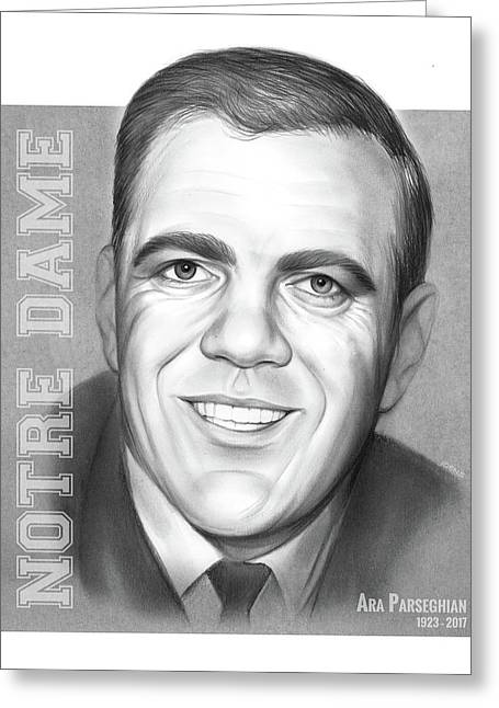 Ara Parseghian Greeting Card