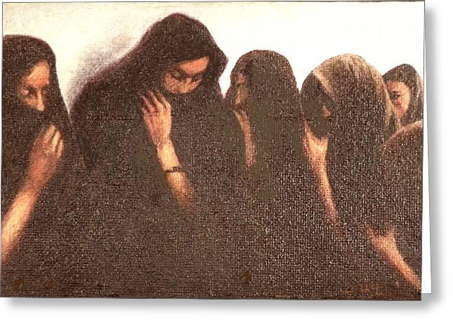 Arab Women Greeting Card by James LeGros