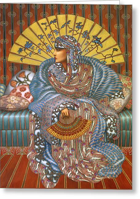 Arabella Greeting Card by Jane Whiting Chrzanoska