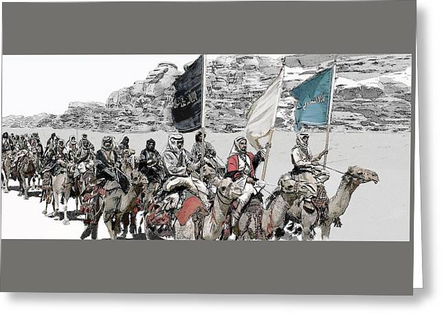 Arabian Cavalry Greeting Card by Kurt Ramschissel