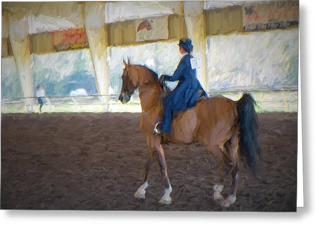 Arabian Dressage Greeting Card