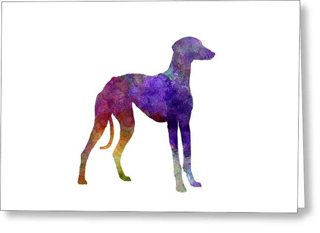 Arabian Greyhound In Watercolor Greeting Card
