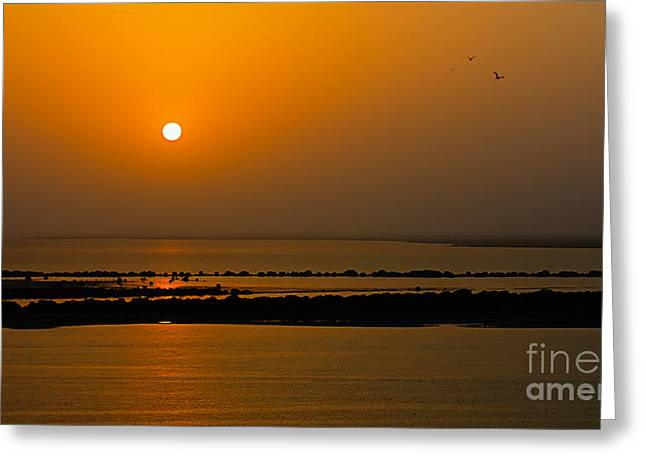 Arabian Gulf Sunset Greeting Card