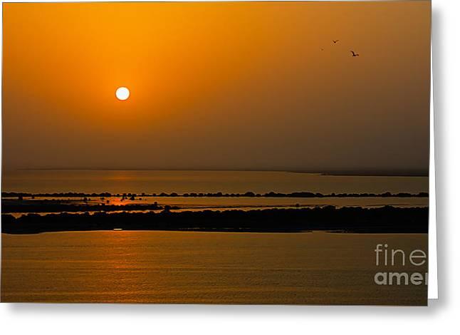 Arabian Gulf Sunset Greeting Card