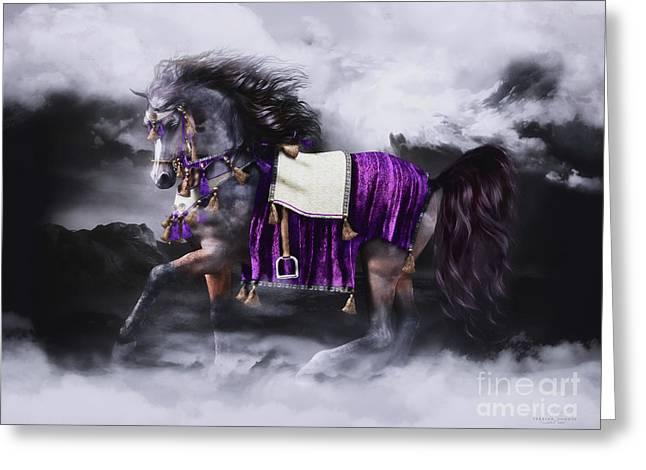 Arabian Horse  Shaitan Greeting Card