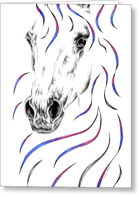 Arabian Horse Style Greeting Card