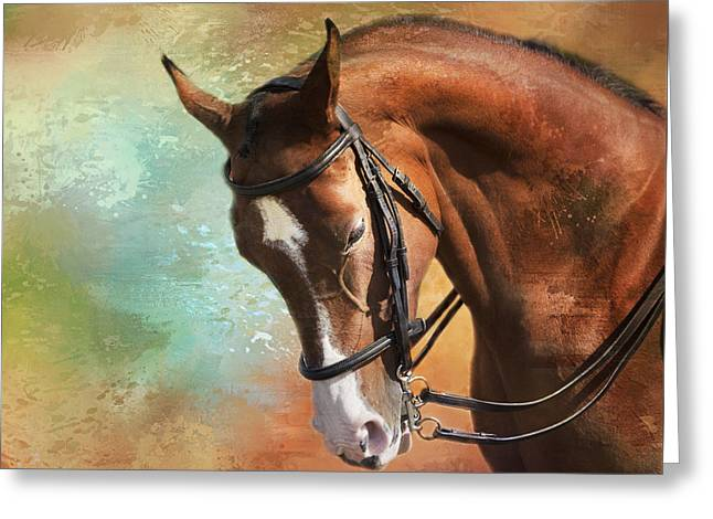 Arabian Horse Greeting Card by Theresa Tahara
