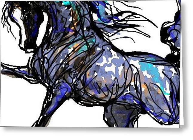 Arabian In Blue Greeting Card