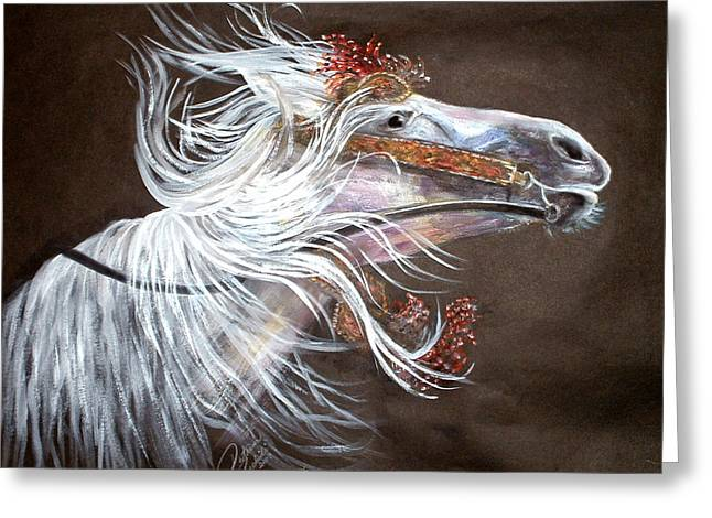 Arabian Stallion Greeting Card