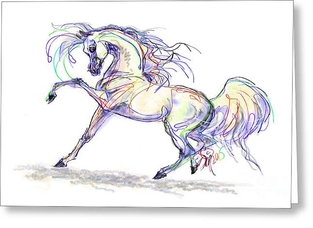 Arabian Stallion Talk Greeting Card