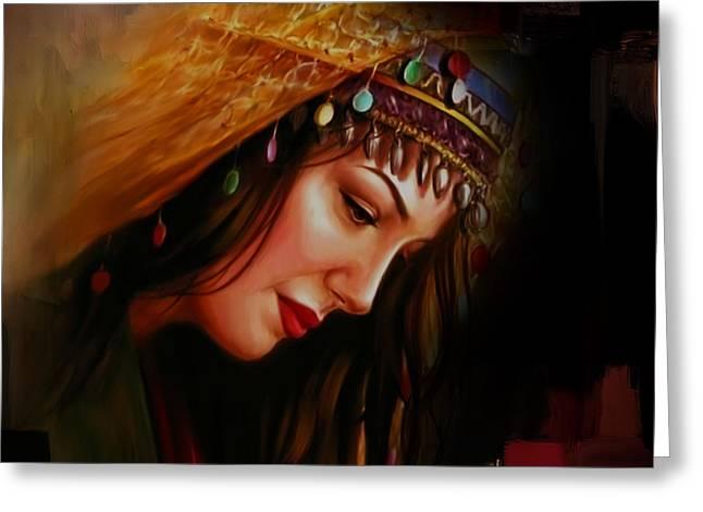 Arabian Woman 043b Greeting Card by Gull G