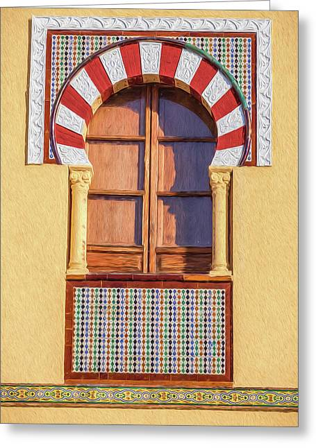 Arabic Window Of Spain Greeting Card
