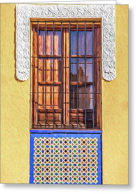 Arabic Window Of Spain II Greeting Card