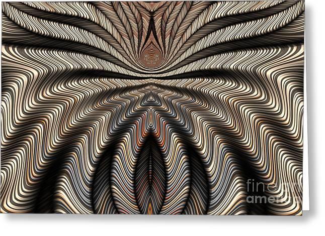Arachnid Abstract Greeting Card by John Edwards