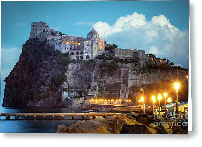 Aragonese Castle Greeting Card by Inge Johnsson