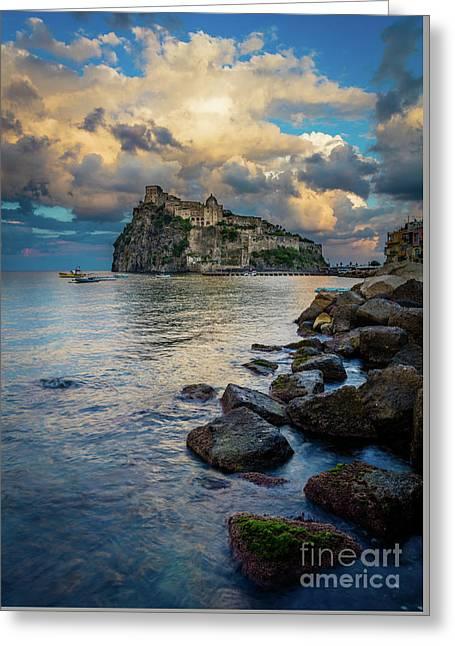 Aragonese Coastline Greeting Card by Inge Johnsson