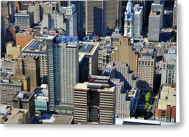 Aramark Psfs Buildings 1101 Market St Philadelphia Pa 19107 2926 Greeting Card by Duncan Pearson
