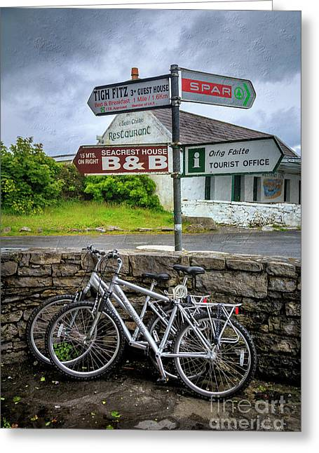 Greeting Card featuring the photograph Aran Island Bicycles by Craig J Satterlee