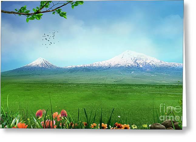 Araratian Field Greeting Card