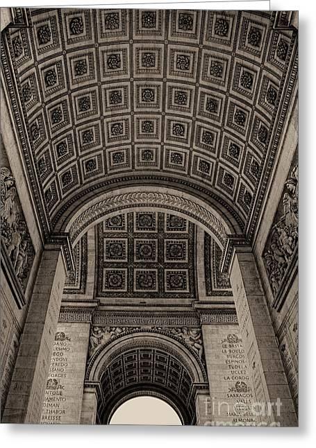 Arc De Triomphe Interior Greeting Card