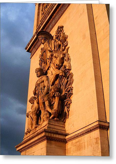 Arc De Triomphe Greeting Card by Juergen Weiss