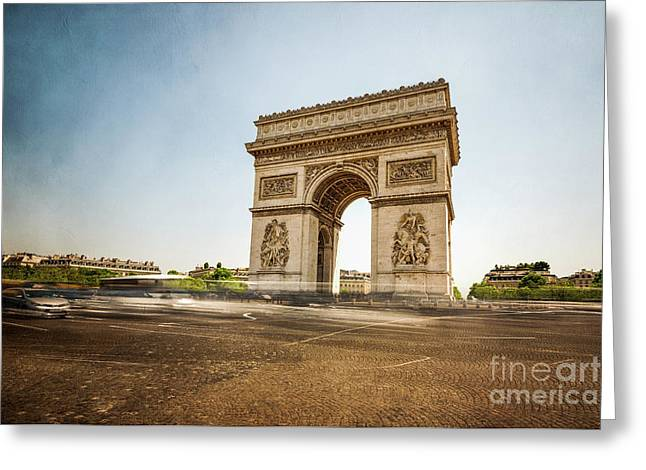 Greeting Card featuring the photograph Arc De Triumph by Hannes Cmarits