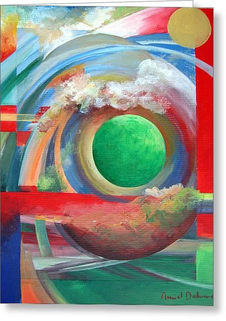 Arc Greeting Card by Muriel Dolemieux