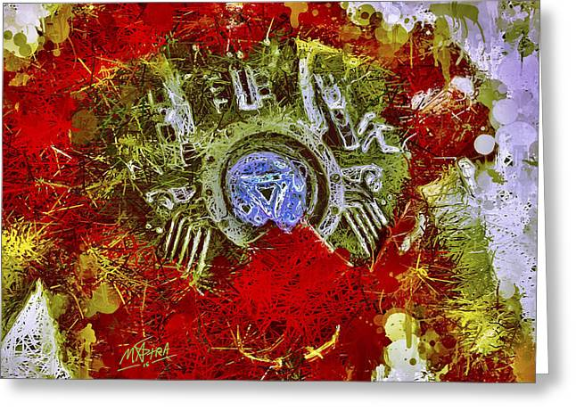 Greeting Card featuring the mixed media Iron Man 2 by Al Matra