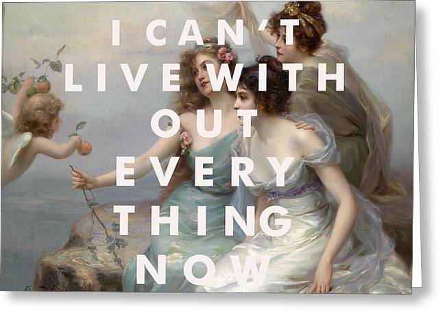 Arcade Fire Everything Now Print Greeting Card