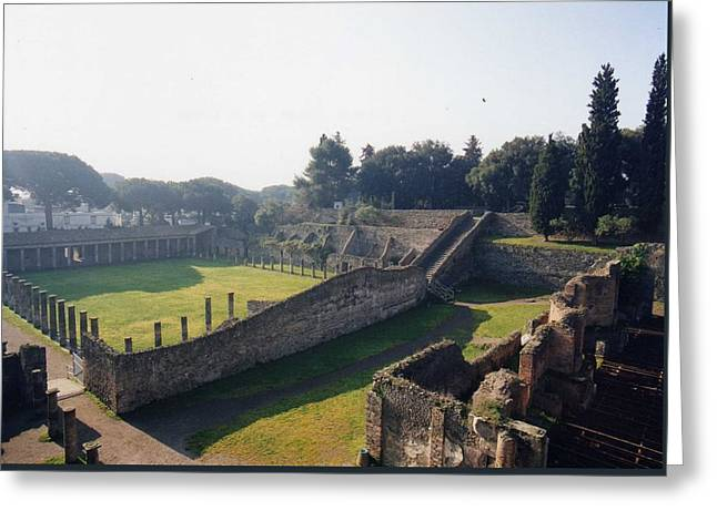 Arcaded Court Of The Gladiators Pompeii Greeting Card by Marna Edwards Flavell