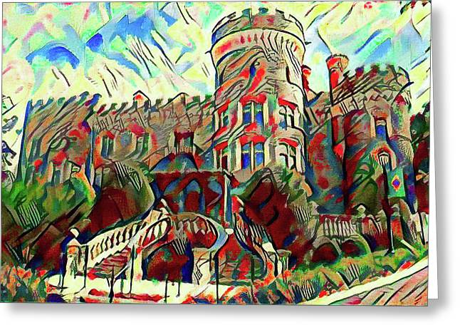 Arcadia College - Grey Towers Castle Watercolor Greeting Card by Bill Cannon