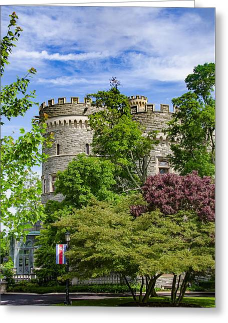 Arcadia University Castle - Glenside Pennsylvania Greeting Card by Bill Cannon