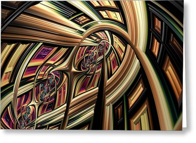 Arch Abstract Greeting Card by Marianna Mills