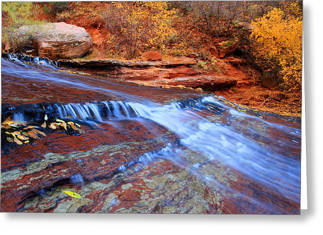 Arch Angel Falls In Zion Greeting Card by Pierre Leclerc Photography